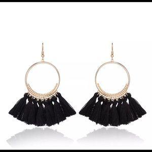 Jewelry - 🚨 5/$20 Black fringe tassel earrings